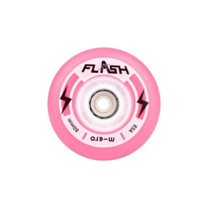 MICRO FLASH 80MM LIGHT UP WHEELS PINK – SET OF 4