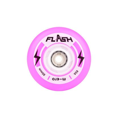 MICRO FLASH 80MM LIGHT UP WHEELS PURPLE – SET OF 4