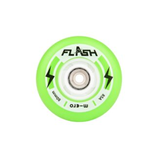 MICRO FLASH 80MM LIGHT UP WHEELS GREEN – SET OF 4
