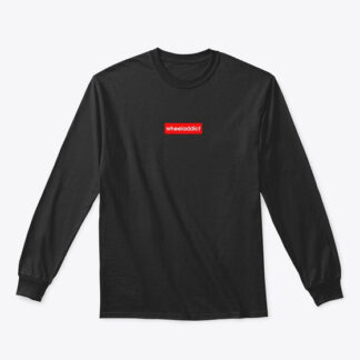 RED TAB WHEELADDICT BLACK LONG SLEEVE