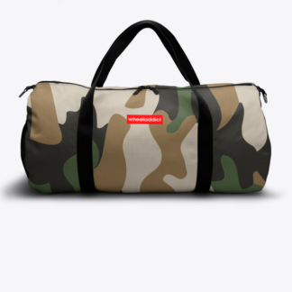 RED TAB WHEELADDICT DUFFLE BAG ARMY