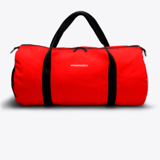 RED TAB WHEELADDICT DUFFLE BAG RED